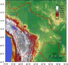 Bolivia Topography