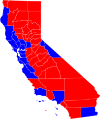 California 2004 Presidential Vote By Counties