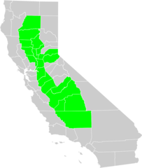 California Central Valley County Map