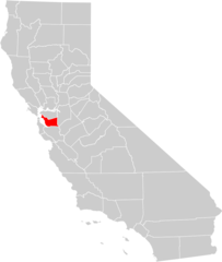 California County Map (alameda County Highlighted)