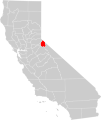 California County Map (alpine County Highlighted)