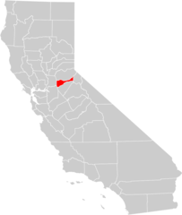 California County Map (amador County Highlighted)