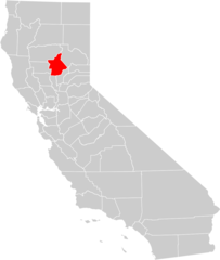 California County Map (butte County Highlighted)