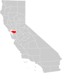 California County Map (contra Costa County Highlighted)