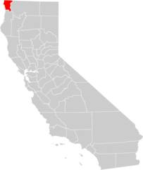 California County Map (del Norte County Highlighted)