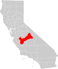 California County Map (fresno County Highlighted)