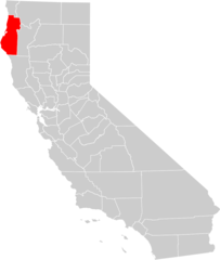 California County Map (humboldt County Highlighted)