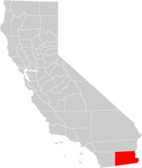 California County Map (imperial County Highlighted)