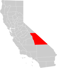 California County Map (inyo County Highlighted)