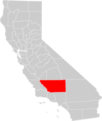 California County Map (kern County Highlighted)