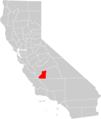 California County Map (kings County Highlighted)