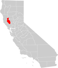 California County Map (lake County Highlighted)