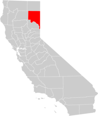 California County Map (lassen County Highlighted)