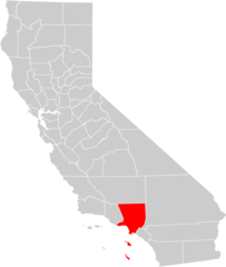 California County Map (los Angeles County Highlighted)