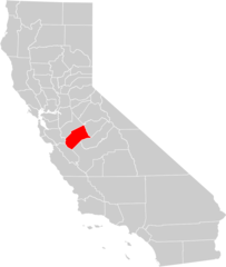 California County Map (merced County Highlighted)
