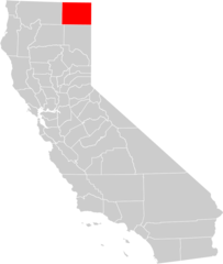 California County Map (modoc County Highlighted)