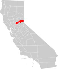 California County Map (placer County Highlighted)