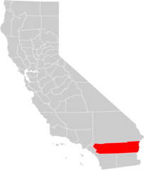 California County Map (riverside County Highlighted)