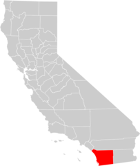California County Map (san Diego County Highlighted)