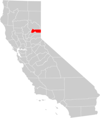 California County Map (sierra County Highlighted)