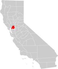 California County Map (solano County Highlighted)