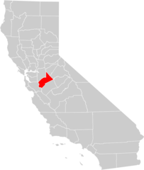 California County Map (stanislaus County Highlighted)