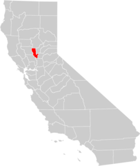 California County Map (sutter County Highlighted)