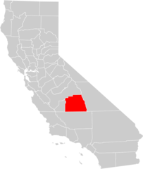California County Map (tulare County Highlighted)