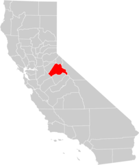California County Map (tuolumne County Highlighted)