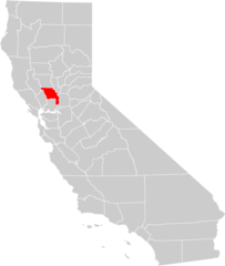 California County Map (yolo County Highlighted)