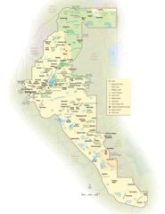 California Map Gold Country