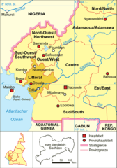 Cameroon Map Political Littoral