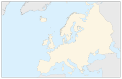 Carte Continent Europe