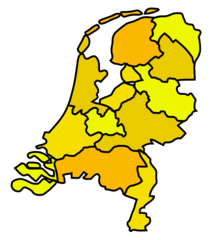 Carte Des Pays Bas (netherlands) Without Names