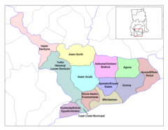 Central Ghana Districts