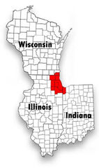 Chicagoland Map Tristate
