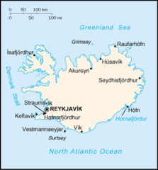 Cia Factbook Map of Iceland
