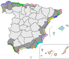 Coasts of Spain Map