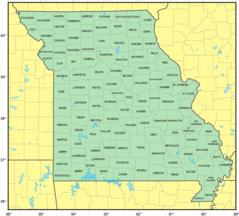 Counties Map of Missouri