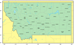 Counties Map of Montana