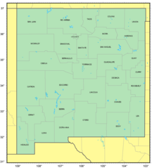 Counties Map of New Mexico