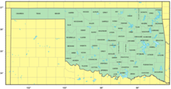 Counties Map of Oklahoma