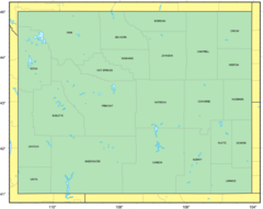 Counties Map of Wyoming