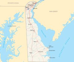 Delaware Reference Map