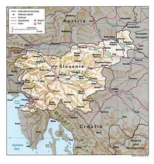 Detailed Map of Slovenia
