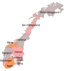Dioceses Church of Norway
