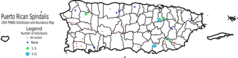Distribution Map of Puerto Rican Spindalis 2004
