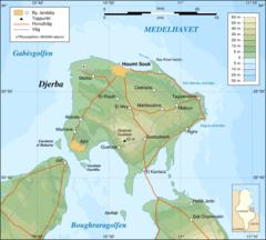 Djerba Topographic Map Sv