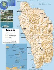 Dominica Physical Map