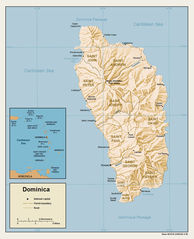 Dominica Relief Map